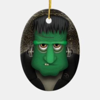 Funny Frankenstein Halloween Costume Ceramic Ornament