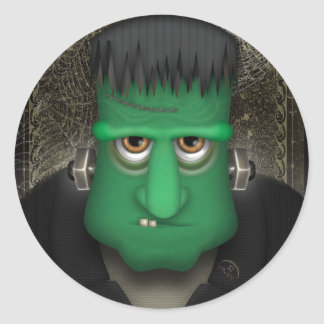 Funny Frankenstein Halloween Costume Classic Round Sticker