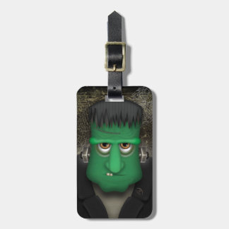 Funny Frankenstein Halloween Costume Luggage Tag