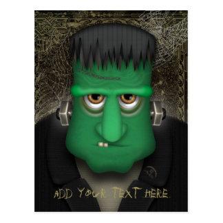 Funny Frankenstein Halloween Costume Personalized Postcard