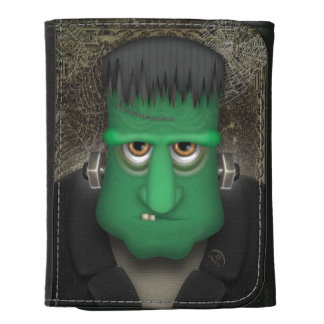 Funny Frankenstein Halloween Costume Leather Trifold Wallets