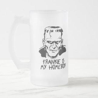Funny Frankenstein Halloween Frosted Mug