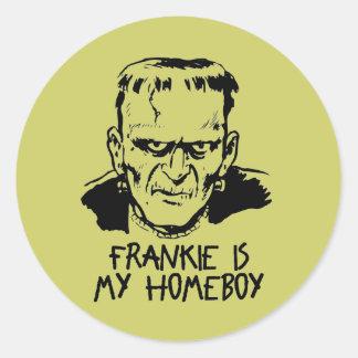 Funny Frankenstein Halloween Stickers