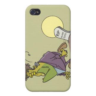 funny frankenstein in graveyard cartoon design case for iPhone 4