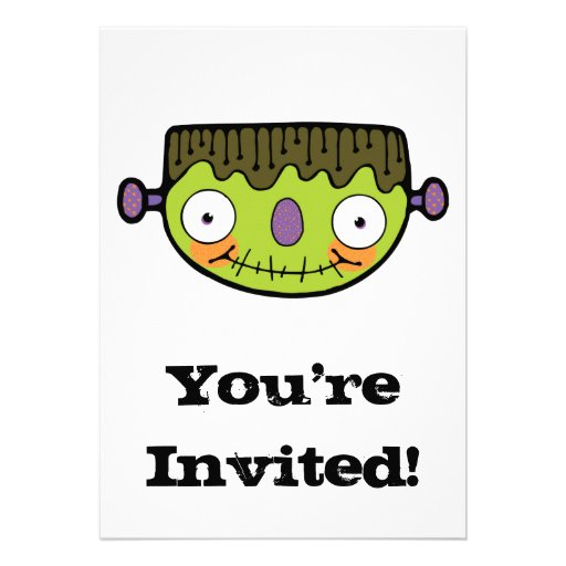 funny frankenstein personalized announcement