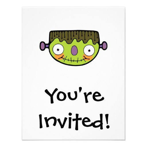 funny frankenstein personalized invitations