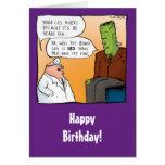 Funny Frankensteins Doctor Birthday Card
