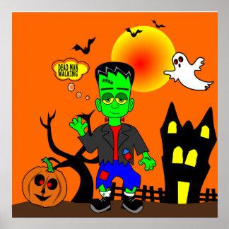 Funny Frankenstein's Monster Image Poster