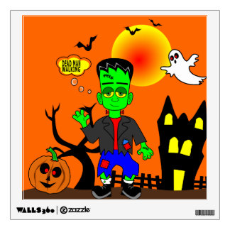 Funny Frankenstein's Monster Image Wall Decal