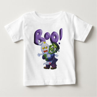 Funny Frankie gives a Cute Ghost a Scare - BOO Baby T-Shirt