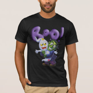 Funny Frankie gives a Cute Ghost a Scare - BOO T-Shirt