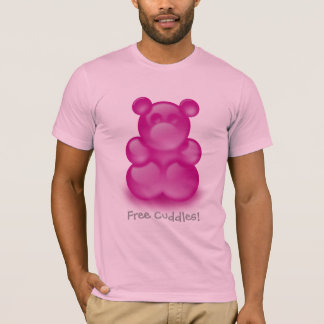 Funny Free Cuddles with raspberry jelly bear T-Shirt