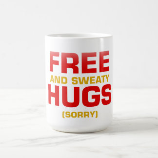 Funny FREE HUGS with hidden message Classic White Coffee Mug