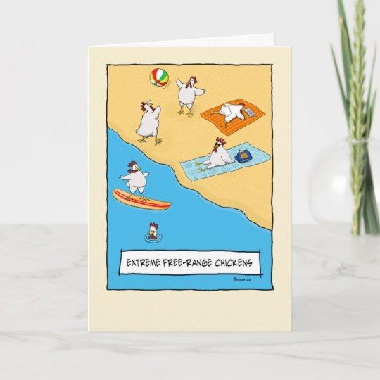 Funny Free Range Chickens Birthday Card Zazzle