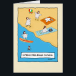 """Funny Free-range Chickens Birthday Card<br><div class=""""desc"""">Here&#39;s a funny birthday card featuring some chickens who know how to party.  From the creator of popular webcomic Captain Scratchy. &#169;2015 Chuck Ingwersen</div>"""
