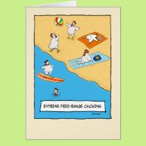 Funny Free-range Chickens Birthday Card