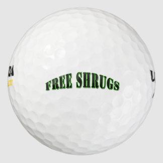 Funny Free shrugs Golf Ball