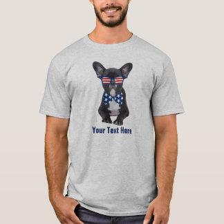 Funny French Bulldog 4th of July USA Custom T-Shirt
