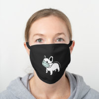 Funny French Bulldog Wearing Face Mask Custom Text