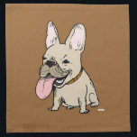 """Funny French Bulldog with Huge Tongue Sticking Out Napkin<br><div class=""""desc""""></div>"""