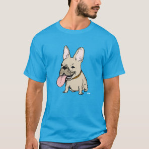 Funny French Bulldog with Huge Tongue Sticking Out T-Shirt