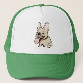 Funny French Bulldog with Huge Tongue Sticking Out Trucker Hat