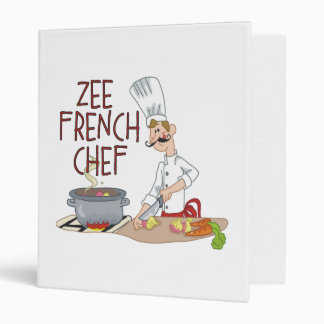 Funny French Chef Binder