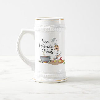 Funny French Chef Gift Beer Stein
