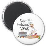 Funny French Chef Gift Refrigerator Magnets