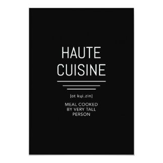 Funny French Chef Haute Cuisine Card