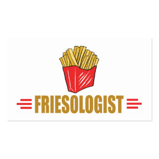 Funny French Fries Business Card
