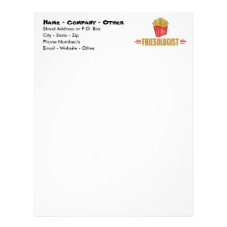 Funny French Fries Letterhead