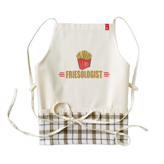 Funny French Fries Lover Zazzle HEART Apron