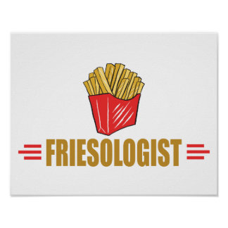 Funny French Fries Poster