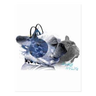 funny frenchbulldogs icon postcard