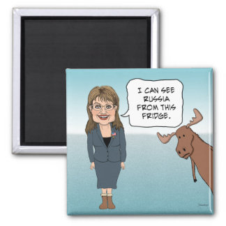 Funny fridge magnet: Sarah Palin Sees Russia Magnet