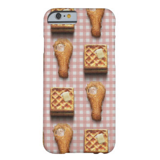 Funny fried chicken and waffles hipster kitsch barely there iPhone 6 case