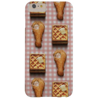 Funny fried chicken and waffles hipster kitsch barely there iPhone 6 plus case