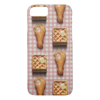 Funny fried chicken and waffles hipster kitsch iPhone 8/7 case