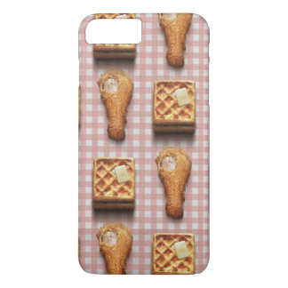 Funny fried chicken and waffles hipster kitsch iPhone 8 plus/7 plus case