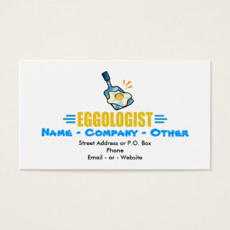 Funny Fried Egg Business Card