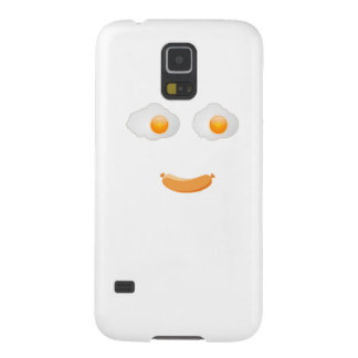 Funny Fried Egg Food Face Galaxy S5 Cover