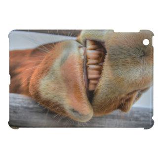 Funny Friendly Horse Muzzle and Teeth iPad Mini Cases