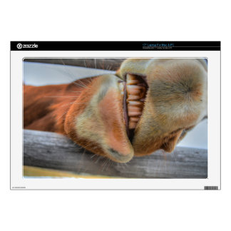 Funny Friendly Horse Muzzle and Teeth Laptop Skins
