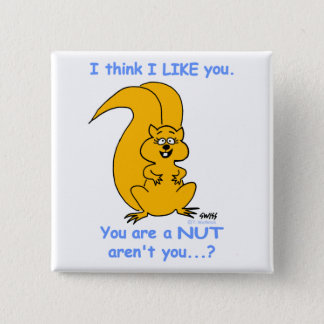 Funny Friendly Squirrel Cartoon Friendship Button