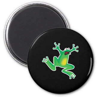 funny frightened frog magnets