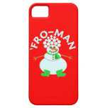 Funny 'Fro Snowman Christmas iPhone 5 Cases