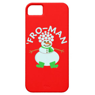 Funny 'Fro Snowman Christmas iPhone SE/5/5s Case