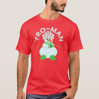 Funny Fro Snowman Christmas T-Shirt