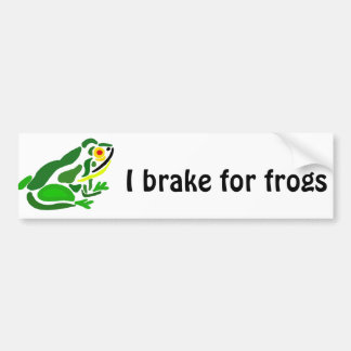 Funny Frog Abstract Art Bumper Sticker